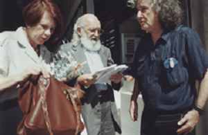 28 Boal with Paulo Freire (by his wife Anita Freire) after being condecorated by Boal, Rio de Janeiro, 1995 © Mariana de Sousa (Courtesy of Augusto Boal Archive UNIRIO)