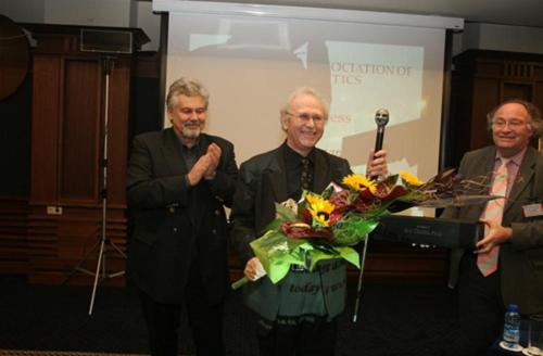 Stefan Danailov (Minister of Culture of Bulgaria), Jean-Pierre Sarrazac et Ian Herbert à Sofia