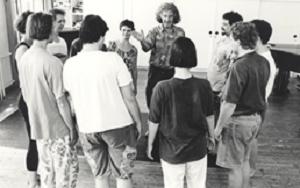 15 Boal with some students in the workshop of Teatro do Oprimido (Theatre of the Oppressed), in Áustria, 1980 © Margarete Neundlinger (Ccourtesy of Augusto Boal Archive UNIRIO)