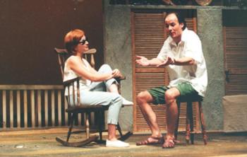 Ana Nave and Jorge Silva in Uma lição dos aloés, 1996 © Courtesy of Teatro dos Aloés