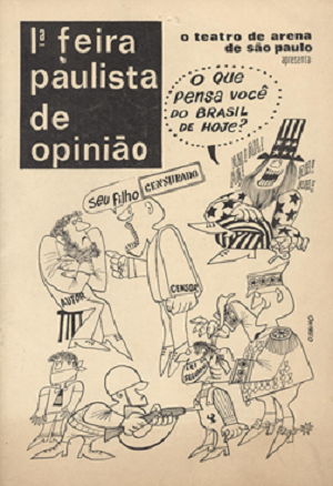 5 Cover of the programme bill of the first Festival of Opinion, São Paulo,1968 © Augusto Boal Archive UNIRIO