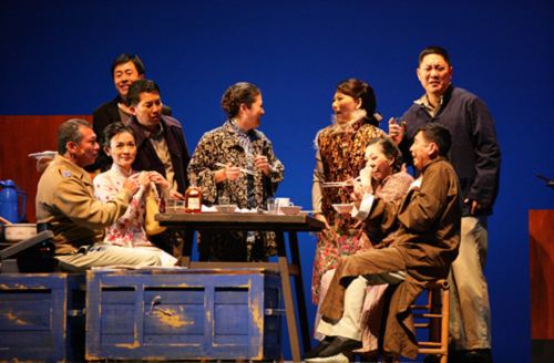 The Village: playwright/director: Stan Lai. Company: Performance Workshop Theatre Taiwan. Theatre venuer: National Theatre, Taipei, Taiwan. Date of the premiere: 2008/12/15. Photograph by Wang Zhiwei.