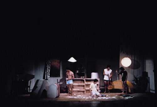 The Passer-by: playwright/director: Stan Lai. Company: National Institute of the Arts Theatre Department. Theatre venue: National Arts Hall, Taipei, Taiwan. Date of the premiere: 1984.6.15. Photograph courtesy of National Taipei University of the Arts.