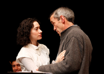 Meghan Wolf (left) and John Hutton in a reading of House of the Spirits, written by Caridad Svich based on Isabel Allende's novel, 2010 © Kyle Malone, Denver Center for the Performing Arts in Colorado (USA)