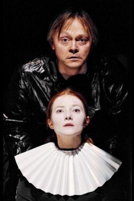 Darius Meskauskas (Hamlet) and Rasa Samuolyte (Ophelia)