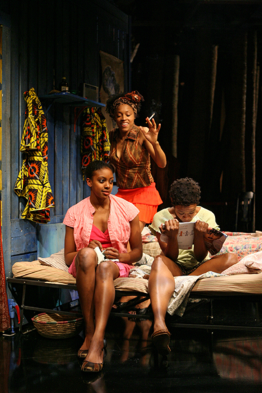 Lynn Nottage's RUINED directed by Kate Whoriskey at Manhattan Theatre Club at New York City Center - Stage I (131 West 55th Street). Pictured (L to R): Condola Rashad as 'Sophie', Cherise Boothe as 'Josephine' and Quincy Tyler Bernstine as 'Salima'. © 2009, Joan Marcus.