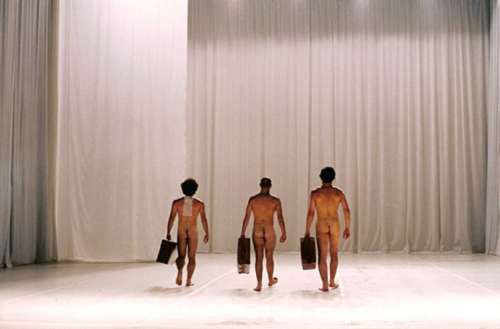 Tonan Quito, Joaquim Horta, Victor Goncalves in Dedicatorias, Sensurround, 2000 © Joao Tuna