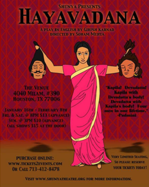 A Poster of the Play 'Hayavadana'