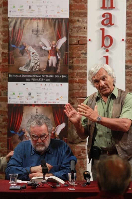 Georges Banu et Eugenio Barba