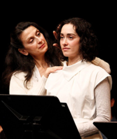 Franca Barchiesi and Meghan Wolf in a reading of House of the Spirits, written by Caridad Svich based on Isabel Allende's novel, 2010 © Kyle Malone, Denver Center for the Performing Arts in Colorado (USA)