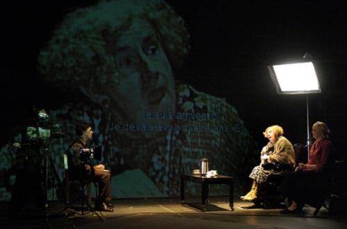 Rick Miller, John Cobb, Rebecca Blankenship dans Lipsynch, Dir. Robert Lepage © Érick Labbé