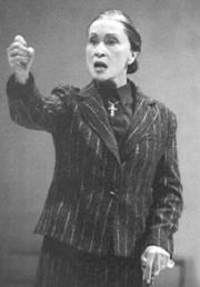 A scene from the play 'The House of Bernarda Alba'