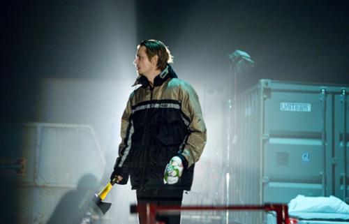 Joel Kinnaman in Crime and Punishment, written and directed by Mattias Andersson, 2009 © Ola Kjelbye [Courtesy of Backa Teater, part of Göteborg City Theatre in Göteborg, Sweden]