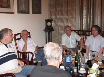 Richard Schechner and collegues in Yerevan