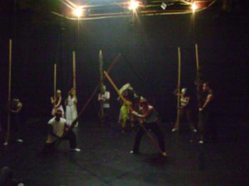 La cérémonie de la Santeria, répétition de Maria Antonia, Théâtre City Hall, La Havana. Photo : Alvina Ruprecht, 21 janvier 2011.