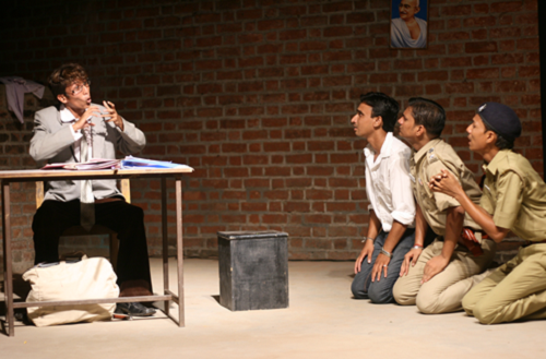 Accidental Death of an Anarchist, directed by Dakxin Bajrange Chhara, 09-04-2010 (Atish Indrekar Chhara, Vaishakh Rathod, Ankur Garange Chhara, Sandeep Indrekar Chhara) © Praveen Indrekar Chhara.