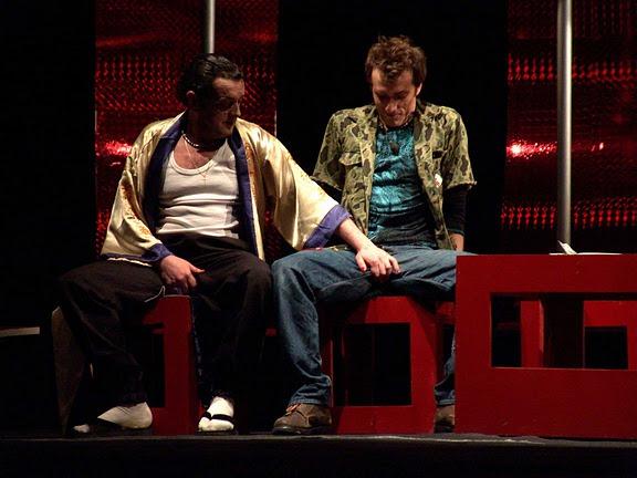 Nadezda Petrovska Ruben and Branko Dorcev in Cupidona, directed by Srdjan Janićijević at Dramski Teatar in Skopje (Macedonia) © Igor Todorovski