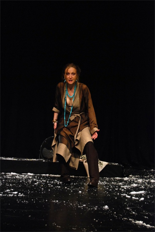 Efi Drosou, as the Chorus of Danaides. From Angelus Novus' The Suppliants (Thessaloniki, Greece, 2010), a production heavily emphasizing the issues of self-determination (habeas corpus), participatory democracy and the obligation of the State to provide shelter to refugees and exiles at all cost.
