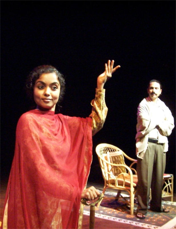 Suruchi Aulakh and Jaimini Pathak in 3 Sakina Manzil, written and directed by Ramu Ramanathan for Working Title at Prithvi Theatre (India) © Kavi Bhansali, 2005