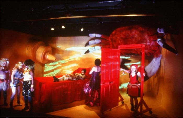 Nina Hellman in Red Frogs written by Ruth Margraff and directed by Elyse Singer for Hourglass Group at P.S. 122 in New York City (USA) © Courtesy of Ruth Margraff, February 2002