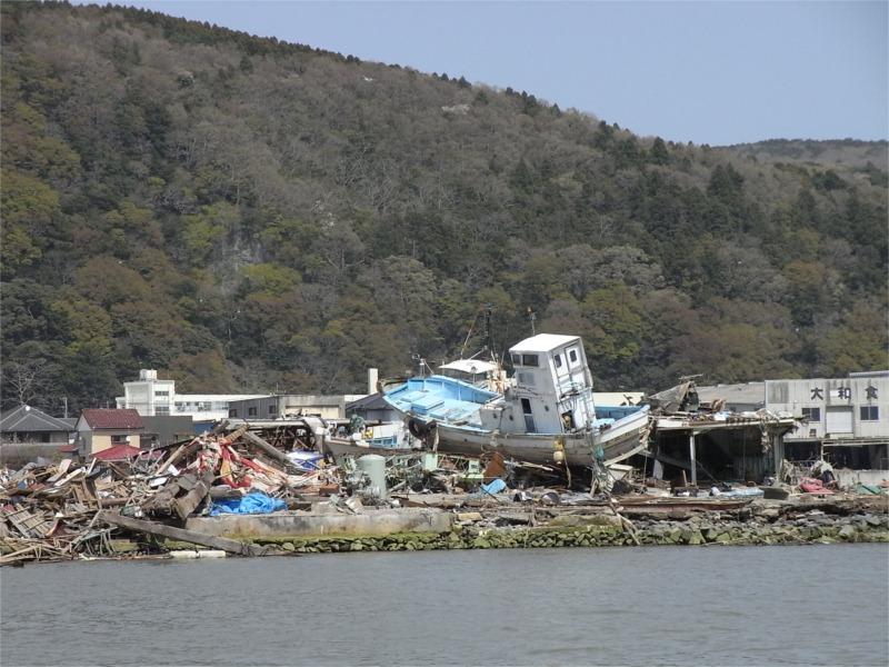 Devastated by tsunami: Ishinomaki, Miyagi, Tohoku (March 2011) © Morihiro Niino
