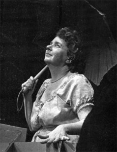 """Angela Paton in """"Happy Days"""" by Beckett. Berkeley Stage Company, opening program, 1974. © Photo BSCo. Archive"""