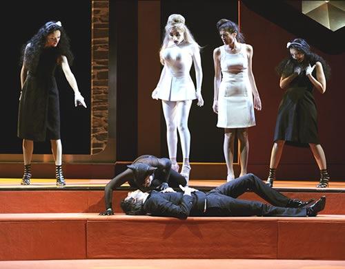 «Sextet» est la quatrième collaboration entre l'auteur Remi De Vos et le metteur en scène Éric Vigner, joué au Théâtre du Rond-Point, Paris, France © Brigitte-Enguerand, October 2009