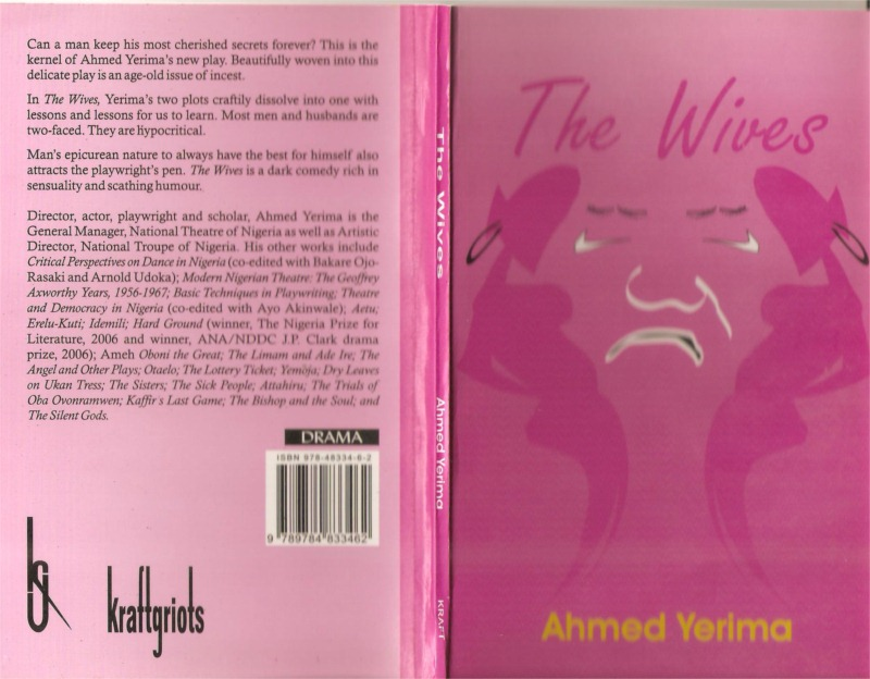 "Book cover of Ahmed Yerima's play ""The Wives"""
