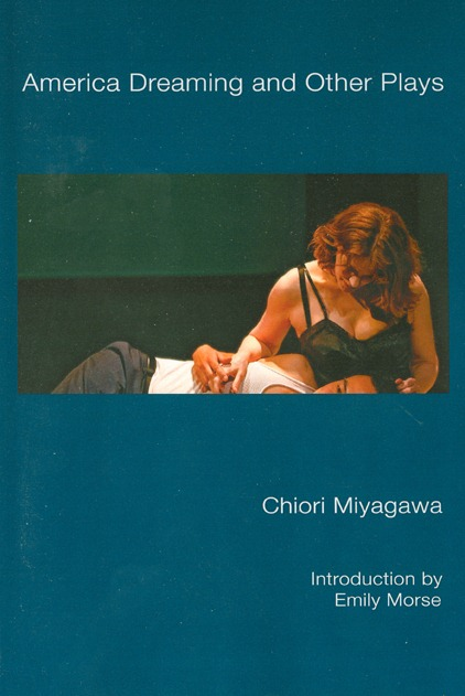 """Book cover for """"America Dreaming and Other Plays"""" by Chiori Miyagawa (NoPassport Press)"""