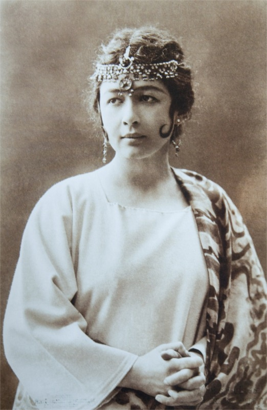 Actress Harriet Bosse in the role of Indra's daughter in A Dream Play 1906. Bosse was Strindberg's third wife and mother to his fifth child, Anne-Marie.