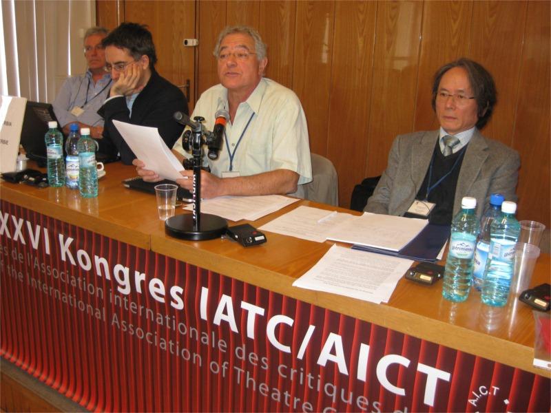 Michel Vaïs au congrès de l'AICT à Varsovie.
