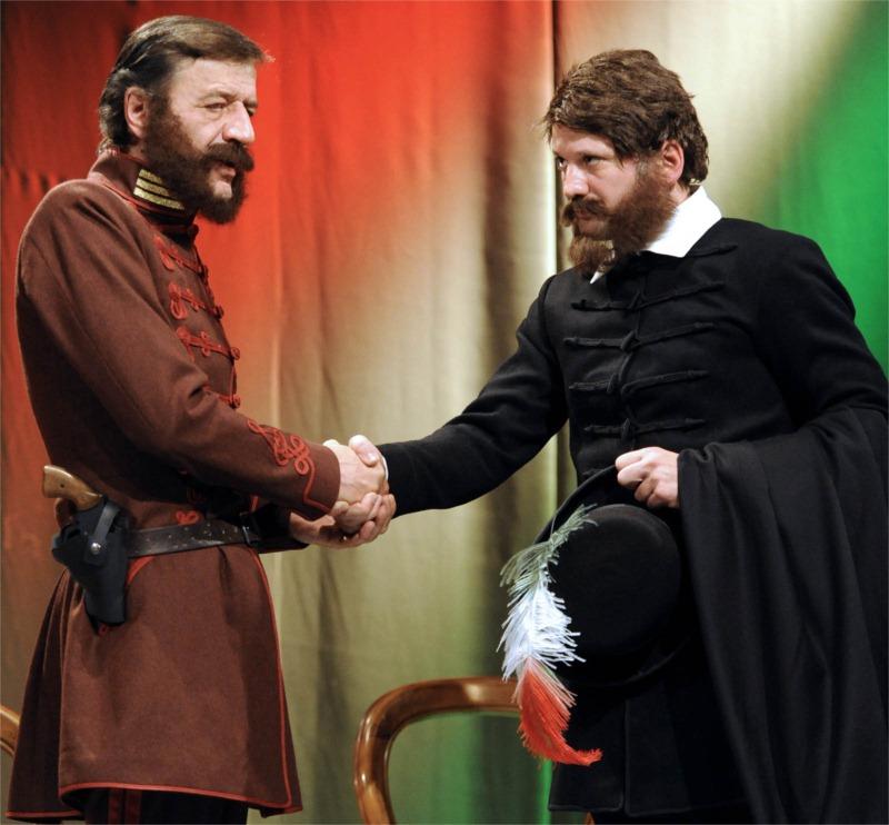 Count Baráznay (László Mucsi) and Lajos Kossuth (Szabolcs Thuróczy).