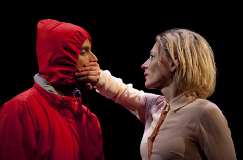 Chris Ryan and Cate Blanchett in Sydney Theatre Company's Big and Small.