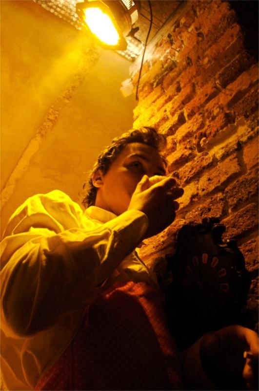 "MG- ""Historia I"" Teatr Ad Spectatores, Wroclaw. Actor: Pawel Kutny. Photo: Maciej Masztalski"