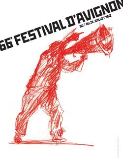 The poster of the Avignon festival.