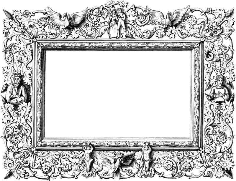 Difficile de représenter Projet blanc autrement que par un cadre vide, comme l'a fait Olivier Choinière de la compagnie L'Activité. Image puisée dans le numéro 143 de la revue de théâtre Jeu, paru en juin 2012.