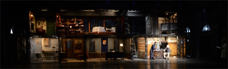 """The Visit"" written by Friedrich Dürrenmatt, directed by Alexander Morfov, scenic and costume design by Nikola Toromanov at Teatrul National Bucharest in Romania, 2011-2012. © Photo by Chris Jeager."