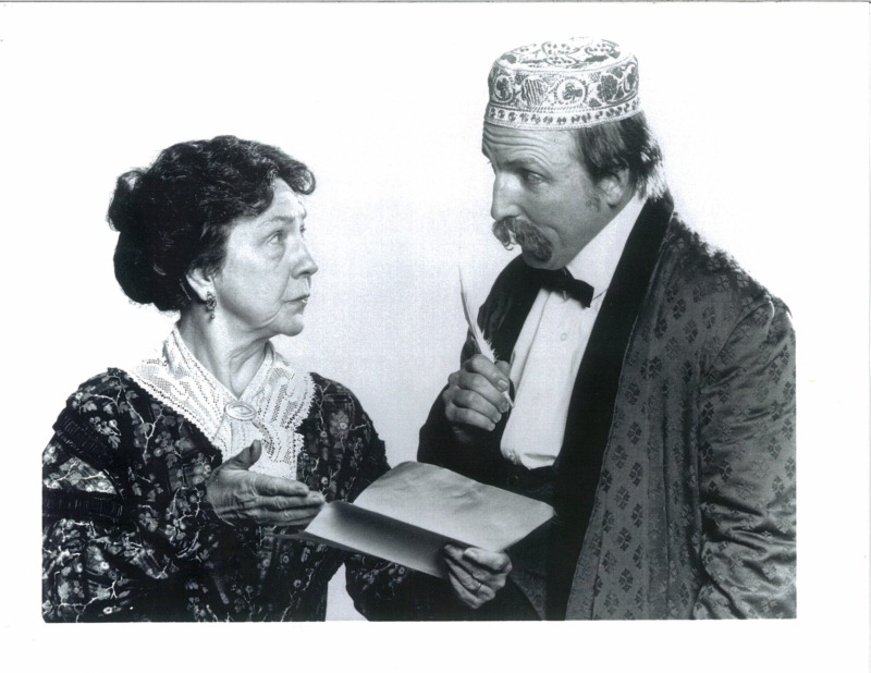 """Barbara Oliver and Ken Grantham in """"Dear Master"""" by Dorothy Bryant. Independent production. Berkeley City Club (Julia Morgan architect), Fall 1991. © Photo by Robert Bryant"""