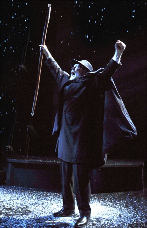 "James Carpenter in the title role of ""John Gabriel Borkman"" by Henrik Ibsen, in a new version by David Eldridge. Dir. Barbara Oliver, Aurora Theatre Company, April 2010. © Photo by David Allen"