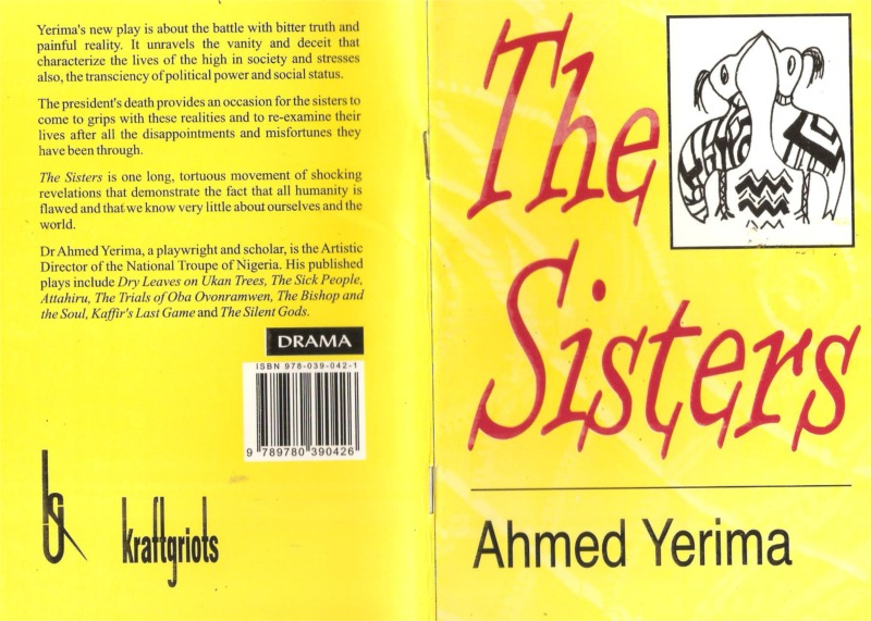 """Book cover of Ahmed Yerima's play """"The Sisters"""""""