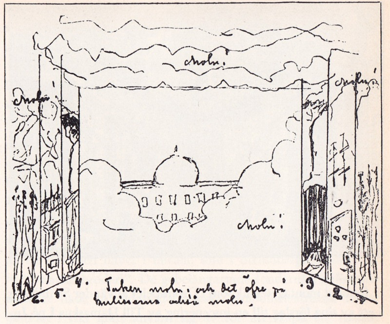 August Strindberg's own sketch for a planned production of A Dream Play.