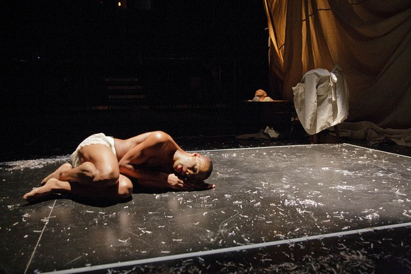 """Shape,"" written by Erik Ehn as part of ""Soulographie: Our Genocides,"" a performance cycle, directed by John Moletress, produced by Force/Collision of Washington, D.C. and premiered at La MaMa E.T.C. in New York City (USA), 2009. © Photo by Colin Hovde"