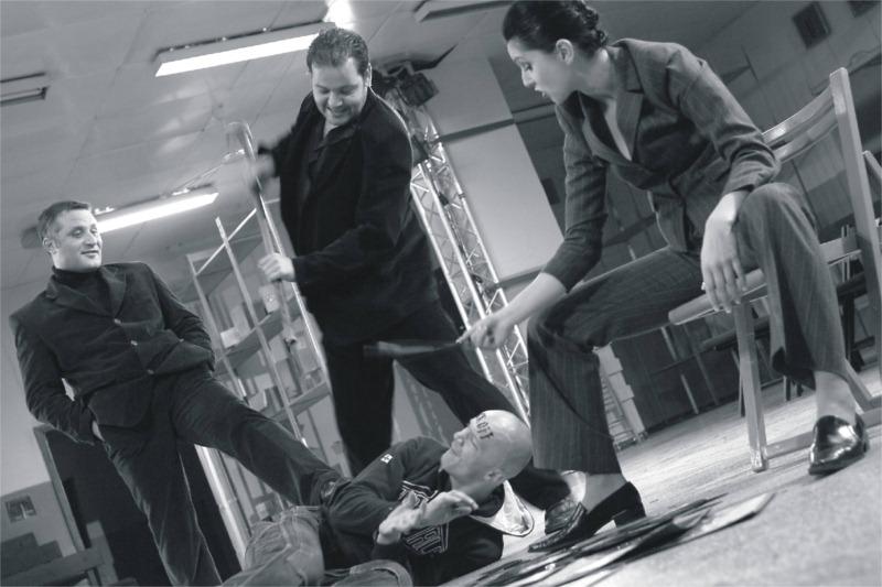"""""""Made in Poland"""" Teatr im. Modrzejewskiej, Legnica. Actors: Eryk Lubos, Janusz Chabior. Photo: Tomasz Augustyn"""