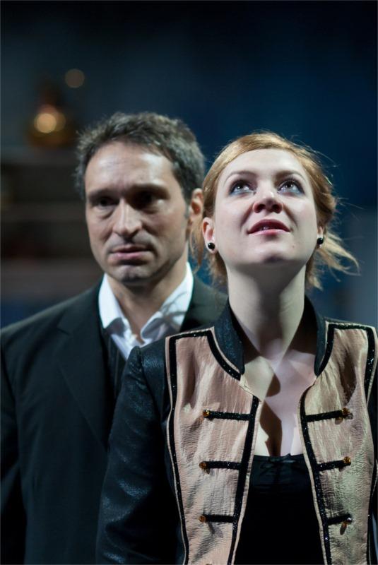"Jean (Zsolt Bogdán) and Julie (Anikó Pethö) in the Cluj production of August Strindberg's ""Miss Julie"" © István Biró"