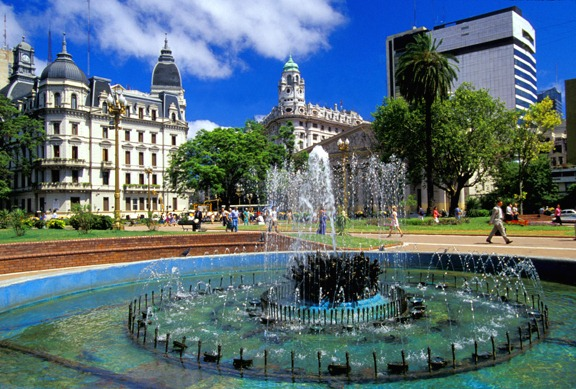 Plaza de Mayo, the main square in the Monserrat barrio of central Buenos Aires.