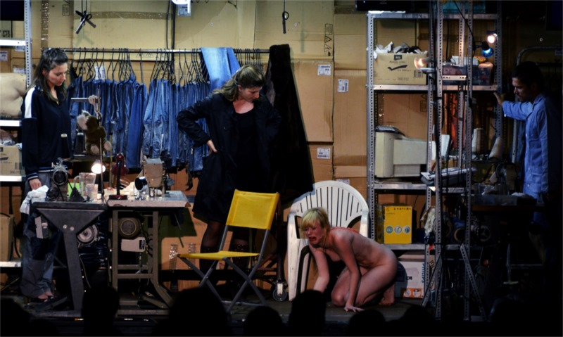 "A sweatshop for jeans and all kinds of products also serves as a base for snuff films and prostitution in the Hungarian production, ""Hard to Be a God."" © Velija Hasanbegović"
