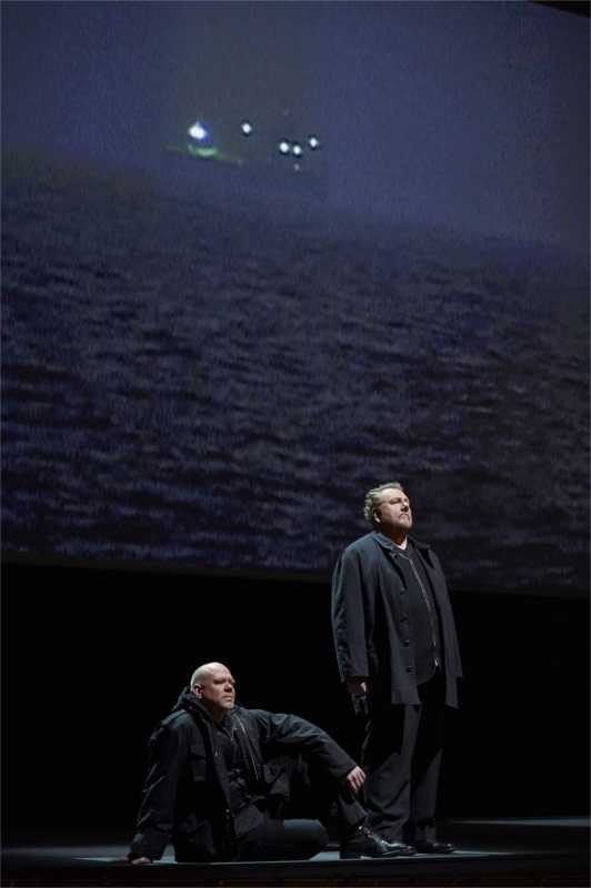 """Canadian Ben Heppner, right, as Tristan in the Canadian Opera Company production of Wagner's """"Tristan and Isolde"""" © Michael Cooper"""