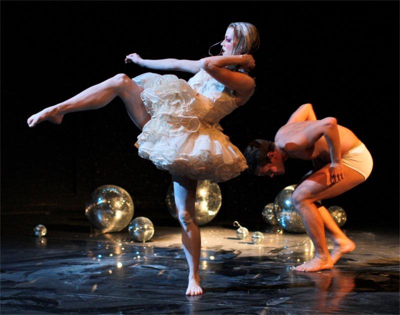 "Scene from ""The Swan,"" choreographed by Lára Stefánsdóttir, by the Íslenski dansflokkurinn (The Icelandic Dance Company), 2013."
