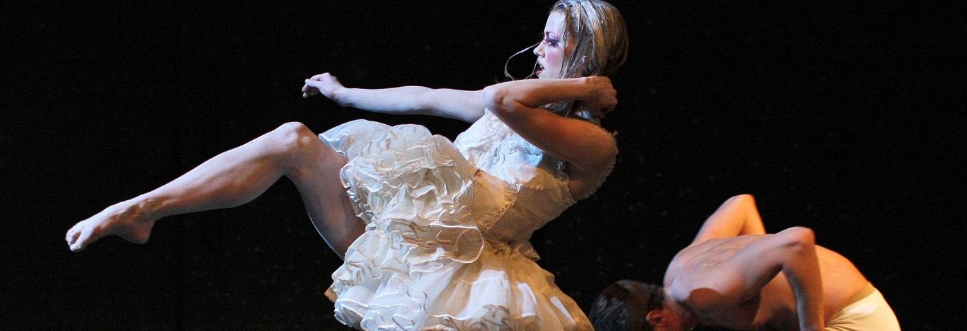 "Scene from ""The Swan,"" choreographed by Lára Stefánsdóttir, by the Íslenski dansflokkurinn"
