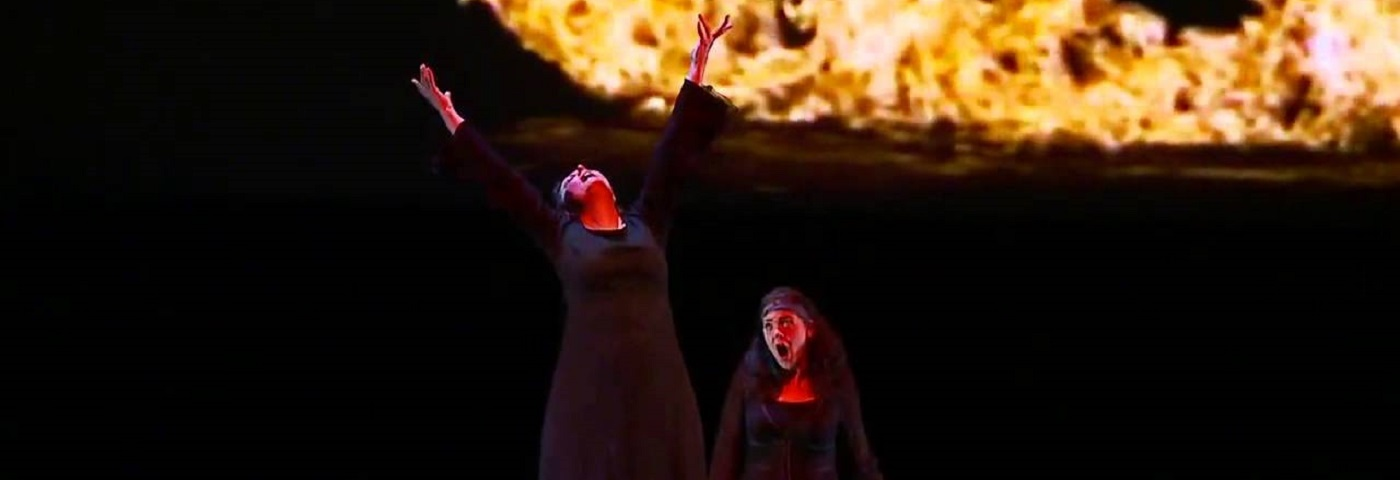 "Bill Viola's videos serve as powerful backgrounds to Peter Sellars' production of ""Tristan and Isolde,"" done by the Canadian Opera Company in Toronto"